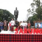 Presiden Joko Widodo nyatakan untuk memakai sarung pada hari tertentu secara nasional (Foto:maritim/herbert)