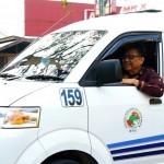 Puspayoga melaju di jalan raya di Medan (Foto:maritim/dok/herbert)