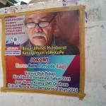 Baliho di Kantor Laskar Merah Putih menyatakan dukungan kepada Joko Widodo agar terpilih kedua kali sebagai presiden pada 2019-2024 sehingga kedaulatan energi Indonesia di tangan Indonesia dengan mengusai Blok Rokan dan Blok Masela (Foto:maritim/mare)