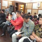 Suasana jumpa wartawan tentang upaya menarik Koperasi Hanson Mitra Mandiri ke ranah hukum pidana dan perdata (Foto:maritim/dok-herbert)