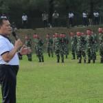 Laksamana Yudo Margono berseru bahwa MARINIR prajurit garda depan dan terdepan yurisdiksi nasional (Foto:maritim/henry)