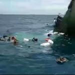 Para prajurit laut (Ritut) yang berupaya mengamankan diri dan semuanya selamat (Foto:maritim/dok-dispen al)