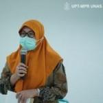 Dekan Fakutlas Ilimu Kesehatan Unas Ilmu Kesehatan Dr Retno Widowati, MSi mengungkapkan pihak Unas mampu memasok tenaga kesehatan untuk mendukung Dinas Kesehatan Kab.Kepulauan Tanimbar (Foto:sembada/pr-unas)