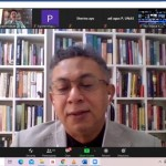Dr. Abdul Malik Gizmar berkata kultur kebebasan berpendapat condong berkonplik jika terkait dengan politik (Foto:maritim/henry/unas-apri)a