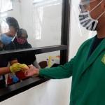 Para mahasiswa Unas mengikuti protokol kesehatan (Foto:maritim/dok-unas/tin)