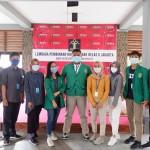 Para anggota Himapublik Universitas Nasional bersama pengurus LPKA Jakarta (Foto:maritim/dok-unas/tin)