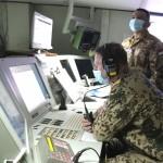 Suasana di ruang Kapten KRI-Hasanuddin-366 dalam rangka serah terima unsur maritim PPD di perairan Laut Mediteranian (Foto:maritim/dok-puspen tni)