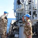 Penghormatan untuk pergantian tugas MTF UNIFIL dari Indonesia (Foto:maritim/dok-puspen tni)